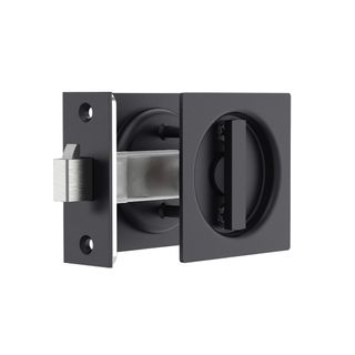 Square Sliding Door Privacy Lock - Matt Black #