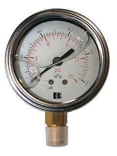 100kpa Pressure Gauge Liquid Filled