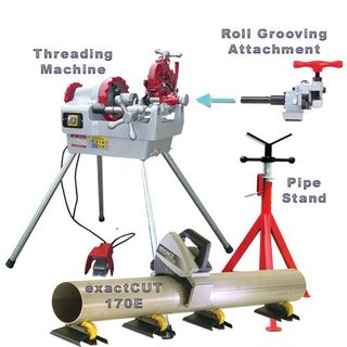 Threader,Groover, exactCUT & Short Folding Pipe Stand Package