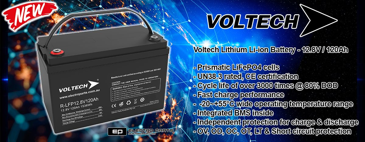 NEW Voltech Lithium Li-ion 120Ah Battery
