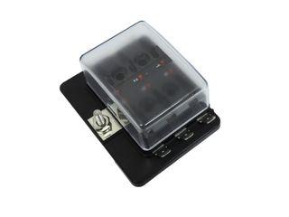 Fuse box W/ LED suit 6 x mini blade fuses