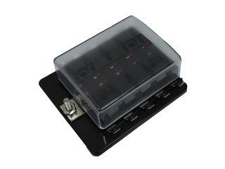 Fuse box W/ LED suit 10 x mini blade fuses