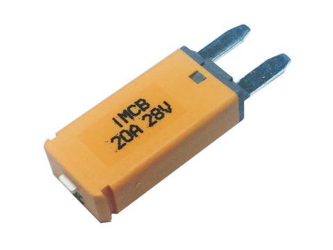 Manual reset circuit breaker Mini blade (20A)