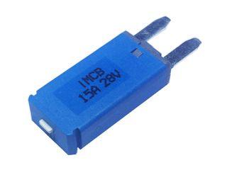 Manual reset circuit breaker Mini blade (15A)