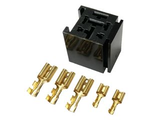 Relay base with bracket suit mini or H/duty relays