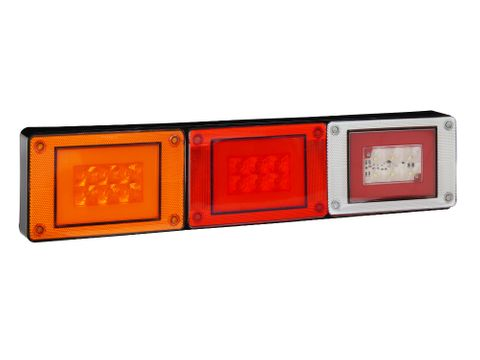Lucidity Glotrac LED Combination Rear Lamp 12V-24V (D.I./Stop-Tail/Rev.)