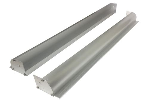 Aluminium Solar Panel Bracket - 510mm (Set of 2) - Outer Mounting Lip