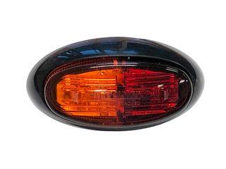 Lucidity LED Side Marker Lamp 12V-24V (red-amber lens, red-amber LEDs)