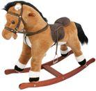 ROCKING HORSE BROWN 82CM