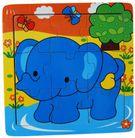 ELEPHANT JIGSAW 15X15CM
