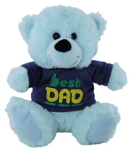BEAR BLUE  BEST DAD SHIRT 18CM