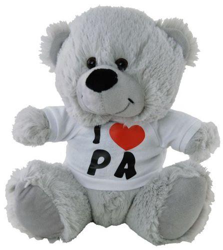 BEAR SILVER I LOVE PA SHIRT 23CM