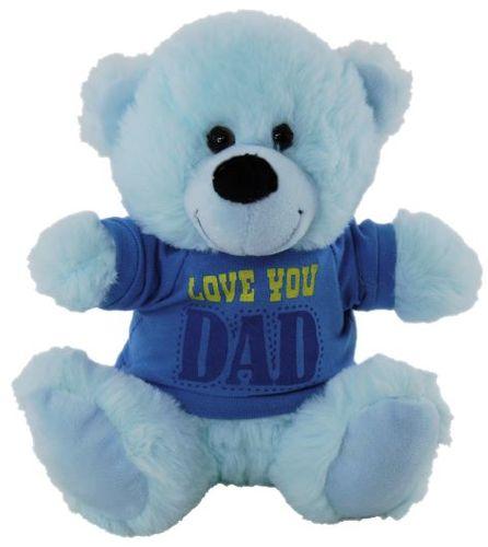 BEAR BLUE LOVE YOU DAD SHIRT 18CM