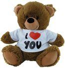 BEAR BROWN I LOVE YOU (HEART) SHIRT 30CM