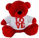 BEAR RED LOVE (BLOCK) WHITE SHIRT 60CM