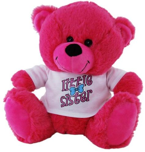BEAR HOT PINK LITTLE SISTER SHIRT 23CM