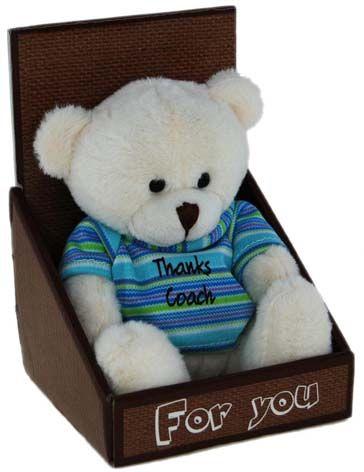 BEAR IN BOX: THANKS COACH
