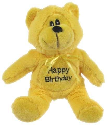 BEAR BEANIE: HAPPY BIRTHDAY 16CM