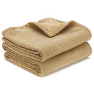 Blanket - Polar Fleece Double Camel