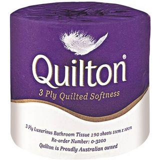 Toilet Rolls 3 ply Wpd - Quilton (48)