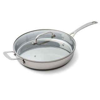 Frypan Pro 18/10 28cm with Glass Lid