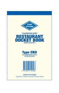 Docket Book - CBD Duplicate Carbonless