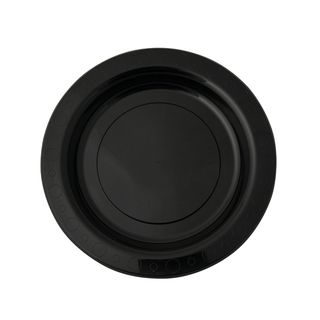Plastic Plates Black 180mm (10x50)