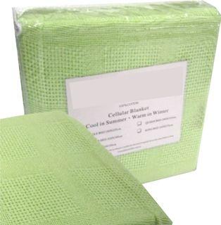 Cot Blanket Cotton - Mint