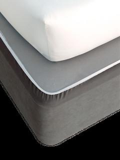 Bedwrap - Faux Suede Double Grey