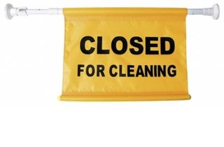 Door Sign - Closed for Cleaning