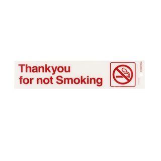 Sign - Self Adhesive Thanks Not Smoking