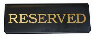 Sign - Reserved Gold on Black
