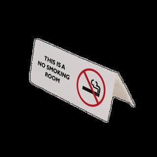 Sign - No Smoking Room 120x60mm (Tent)