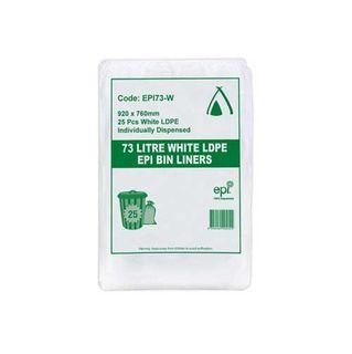 73L White LDPE EPI Bags (250)