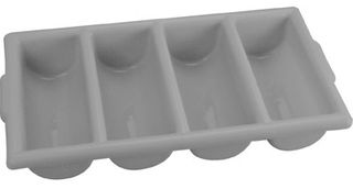 Cutlery Tray - 4 Compartment Grey
