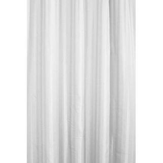 Shower Curtain - White Satin Stripe