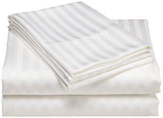 Sheet - K/Single Flat Sateen Stripe 20mm