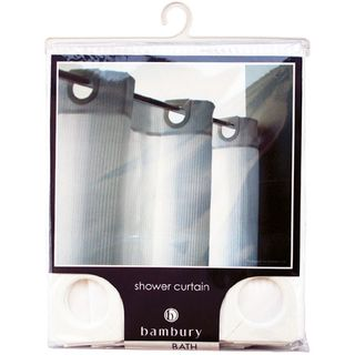 Shower Curtain - White w/ Built In Rings