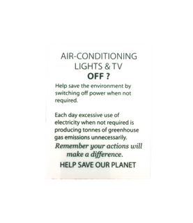 Sign - Air conditioning 100x75mm (Wall)