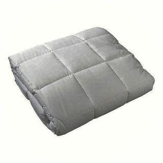 Boxed End Quilt Double - Flint Grey