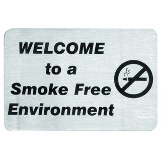 Sign - No Smoking S/Steel 120x80mm
