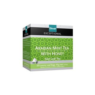 Dilmah Exceptional Luxury Leaf Tea - Arabian Mint Tea with Honey 20s