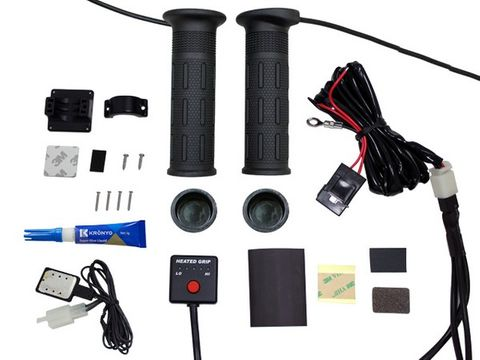 HOT GRIPS ATV: HEATHER WITH 5-STEP DIGITAL SWITCH SPEC: THUMBHEATER &GLUE 7/8+7/8 L:134MM,12A 35W