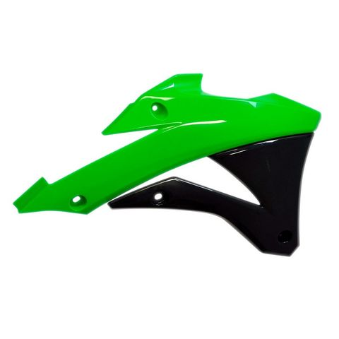 RADIATOR SHROUDS KX85 14-21 KX100 14-21 GREEN/BLACK