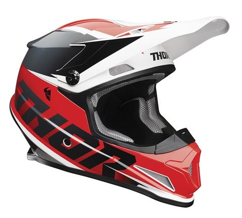 THOR MX SECTOR FADER HELMET RED BLK