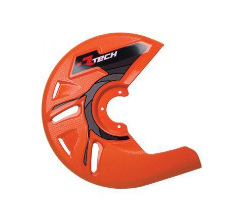 *DISC GUARD RTECH SUITABLE FOR STD OR OVERSIZE DISC REQUIRES MOUNTING KIT SOLD SEPARATELY KTM ORANGE
