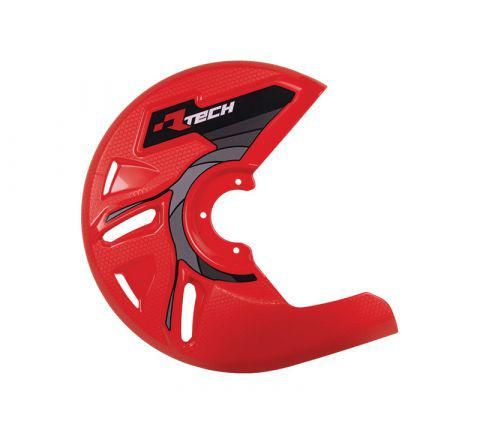 DISC GUARD RTECH SUITABLE FOR STD OR OVERSIZE DISC REQUIRES MOUNTING KIT SOLD SEPARATELY RED