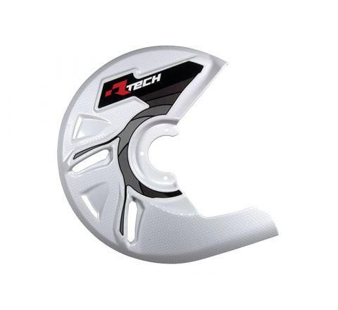DISC GUARD RTECH SUITABLE FOR STD OR OVERSIZE DISC REQUIRES MOUNTING KIT SOLD SEPARATELY WHITE