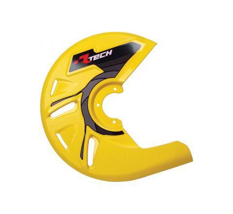 DISC GUARD RTECH SUITABLE FOR STD OR OVERSIZE DISC REQUIRES MOUNTING KIT SOLD SEPARATELY YELLOW