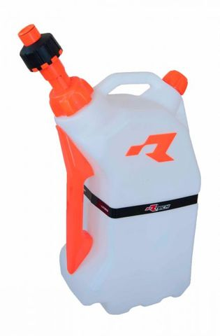 FUEL CAN RTECH 15 LITRE QUICK REFUELING FITS INTO R15 STAND FOR EASY TRANSPORTATION ORANGE